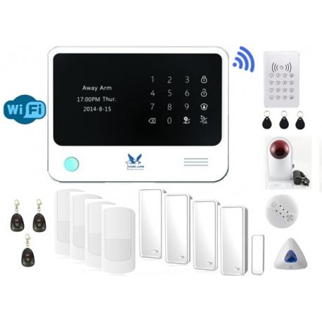 Villalarm Hemlarm Inbrottslarm GSM Larm Trådlöst Hemlarm Smart Larmpaket XL www.homelarm.se