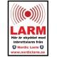 Villalarm Hemlarm Inbrottslarm GSM Larm Trådlöst Larm