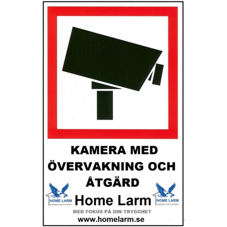 Larmdekal med Kamera logo